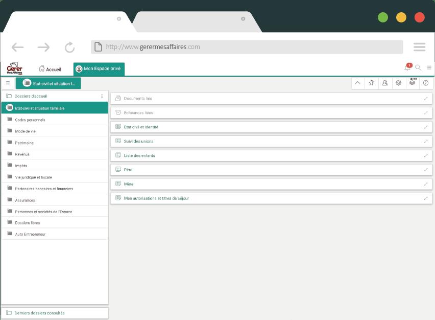 navigateur gerermesaffaires.com coffre-fort numérique privé