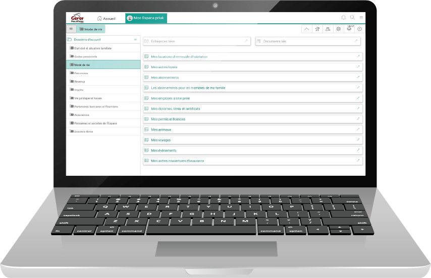 laptop coffre-fort numérique pro gerermesaffaires.com