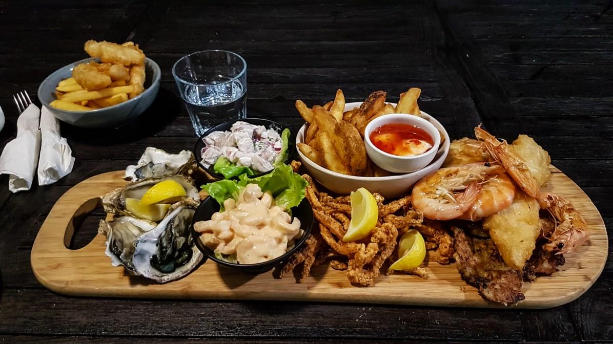 Fischplatte zum Abendessen