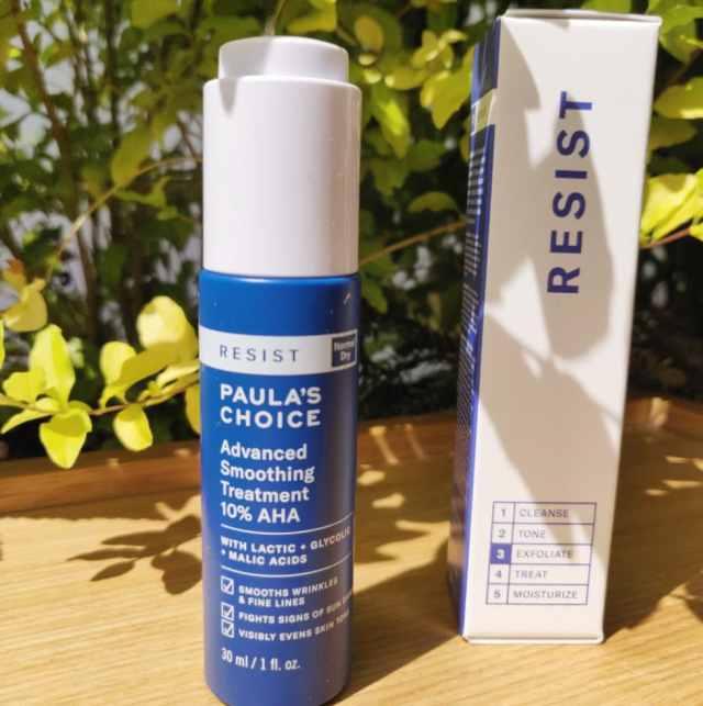 REVIEW PAULA CHOICE 10% AHA advanced smoothing treatment