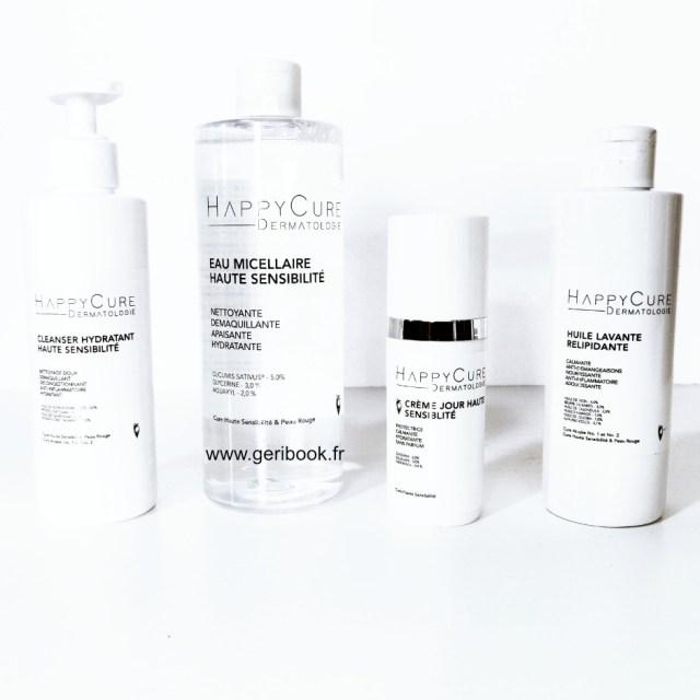 HappyCure > mon avis sur 3 cosmétiques dermatologiques peau sensible atopique