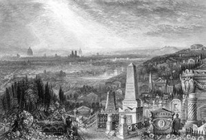View of Paris from Père Lachaise Cemetery, Author's Collection