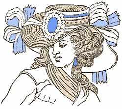 Hairstyle and Straw Hat of 1790, Author's Collection