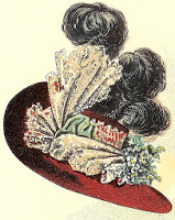 Hat fashions for March 1897 - Ladies' Round Hat, Author's Collection