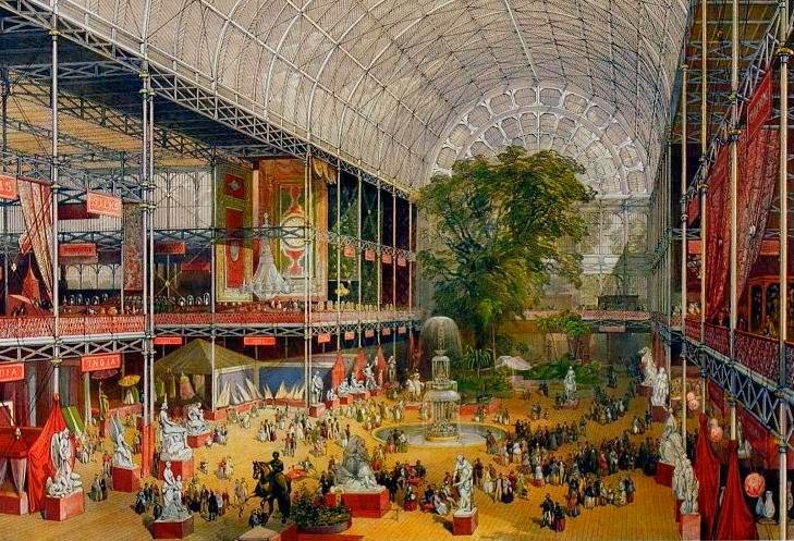 Crystal Palace Exhibition Hall Interior of the Great Exhibition, Courtesy of Wikipedia