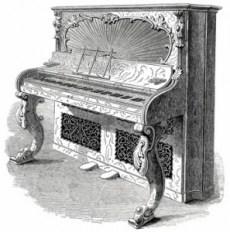 Great exhibition display of Albert cottage pianoforte harmonium