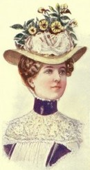 Hat Fashions for August 1899: Leghorn Hat, Author's Collection