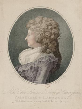 image of Princesse de Lamballe from Reine Audu post