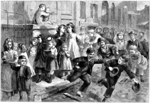 Children Released From School in the Late 1800s, Author's Collection