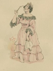Handkerchiefs and Flirting Language - Mrs. Bayham Badger