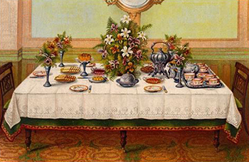 Mrs. Beeton's Afternoon Tea Table, Author's Collection