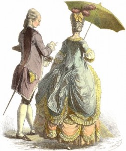 Flirting - Parasol of the 1780s, Author's Collection