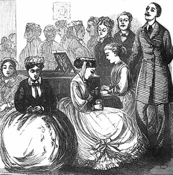 A Fashionable Tea Party, Public Domain