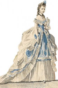 Evening Gown from 1870, Author's Collection