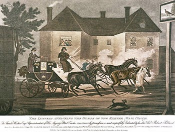 The Lioness Attacking the Horse of the Exeter Mail Coach, Public Domain