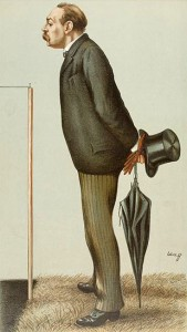 Vanity Fair Character of 1895- Montague Shearman With His Umbrella, Courtesy of Wikipedia