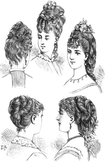 victorian chignon in late 1800s