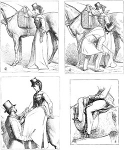 Equestrianism etiquette - French Lady Riding Sidesaddle, Author's Collection