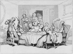 Diners Illustrated by Thomas Rowlandson, Public Domain