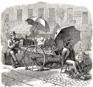 The Stool-Man Selling His Umbrella, Author's Collection