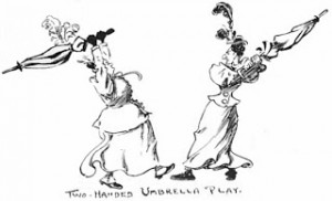 Two-handed Umbrella Play, Public Domain