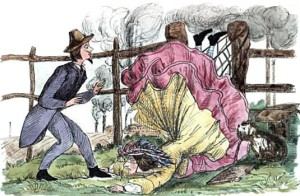 Falling in Crinoline, Public Domain