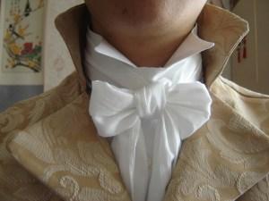 Cravat Wearing tips - regency style cravat