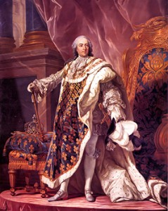 Louis XV at Versailles by Louis Michel van Loo, Courtesy of Wikipedia