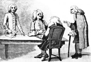Notables at Button's Coffee House, Public Domain