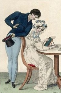 A Flirting Couple in 1825, Public Domain