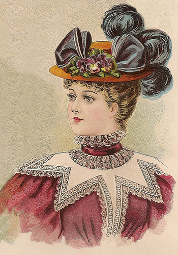 Hat fashions for October 1896 - Young Ladies' Hat, Author's Collection