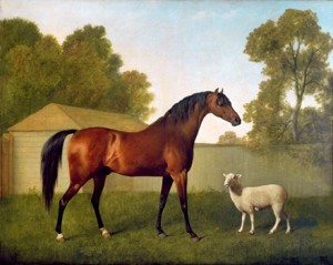 Dungannon and His Friend the Sheep by George Stubbs in 1793, Public Domain