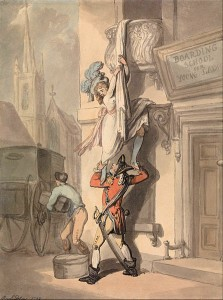 Thomas Rowlandson's Version of the Bristol Elopement, Courtesy of Wikipedia