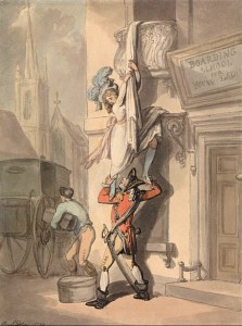 Thomas Rowlandson's Version of the Bristol Elopement, Marriage Act of 1753