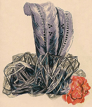 Hat Fashions for September 1898: Dressy Toque, Author's Collection