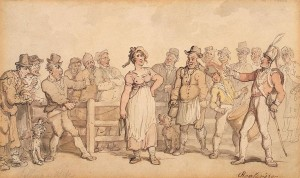 Smithfield Market - Selling a Wife in 1812, Courtesy of Wikipedia