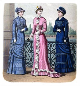 (Left to Right) Cambridge Toilette, Chiswick Breakfast Robe, and Oxford Costume, Author's Collection