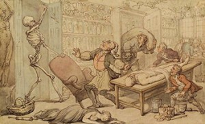 The Dissecting Room by Thomas Rowlandson, Public Domain