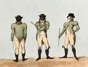A Man of Fashion in 1800 with His Walking Stick, Public Domain