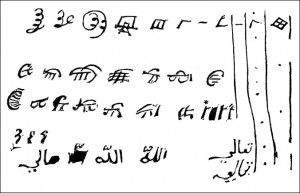 Javasu Characters Written by Princess Caraboo, Public Domain