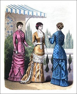 (Left to Right) De Salis Costume, Dashwood Dinner Toilette, and Montressor Visiting Costume, Author's Collection