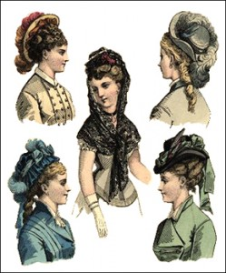 Millinery 1870s, Author's Collection