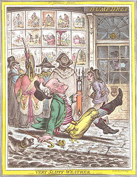 Engraving of Humphrey's Shop with Gillray's Works in the Window, Courtesy of Wikipedia
