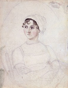 Picture of Jane Austen Drawn by Her Sister Cassandra, Courtesy of Wikipedia