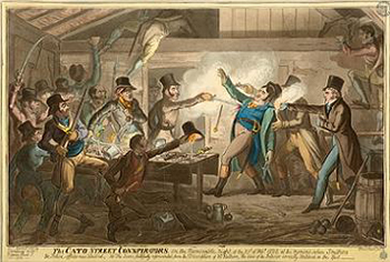 Cato Street Conspirators and the Police, Courtesy of Wikipedia