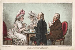 Two-Penny Whist by James Gillray c. 1795, Georgian Whist