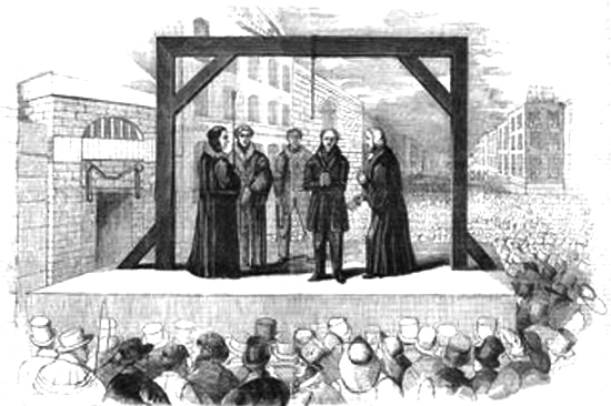 Execution of François Benjamin Courvoisier for the Murder of Lord William Russell