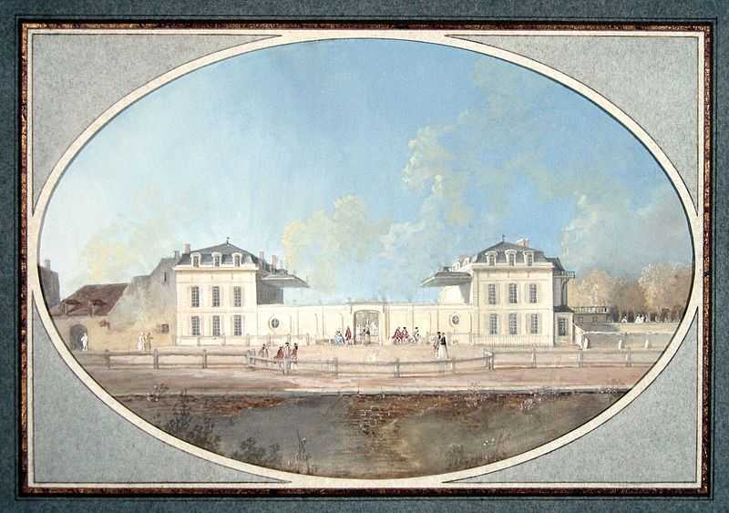 Benjamin Franklin living in Passy with another View of Hôtel de Valentinois, Courtesy of Carnavalet