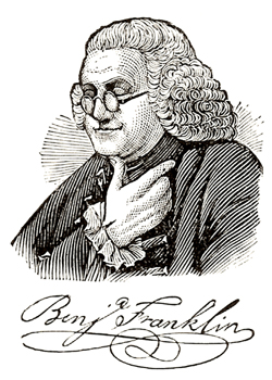 Benjamin Franklin, Author's Collection