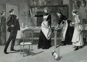 Kitchens, sculleries, and larders: Victorian Kitchen Maids